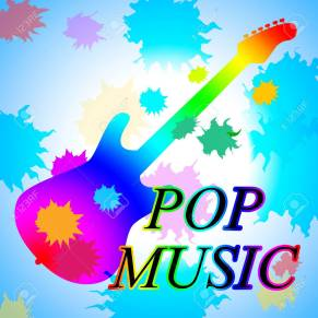 Pop Music Showing Popular Tune And Tunes